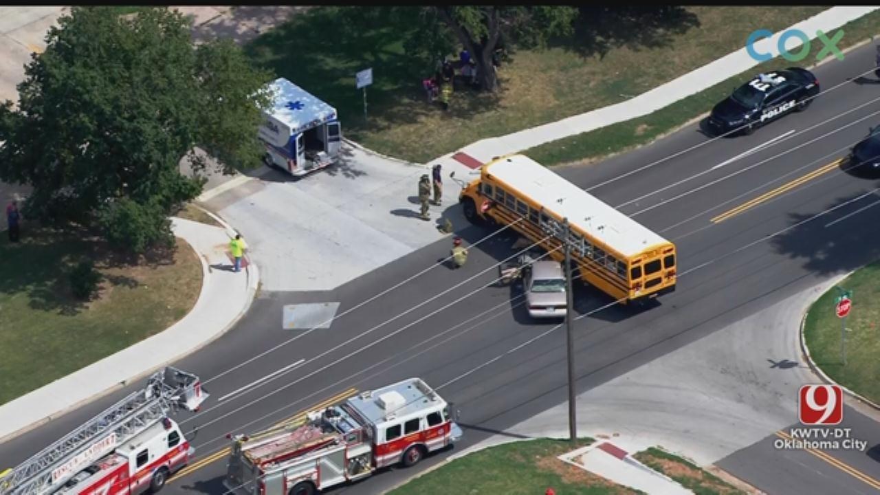 Crash Involving School Bus Reported In SW OKC