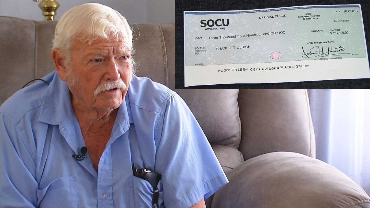 Retired OKC Police Officer Warning Others After Check Scam