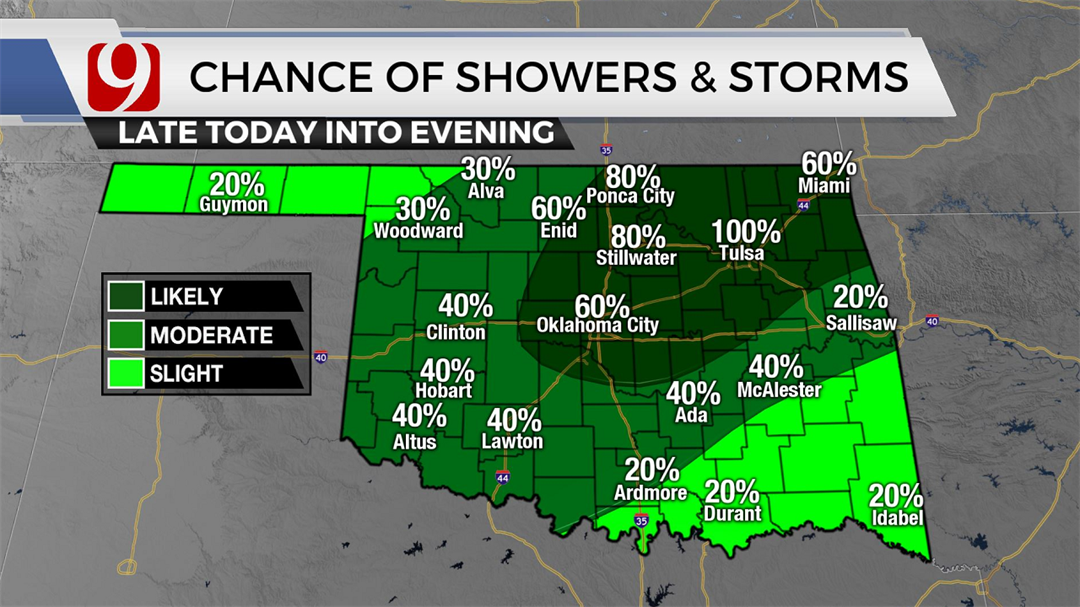 Storms Possible Thursday As Oklahoma Gets (Some) Heat Relief