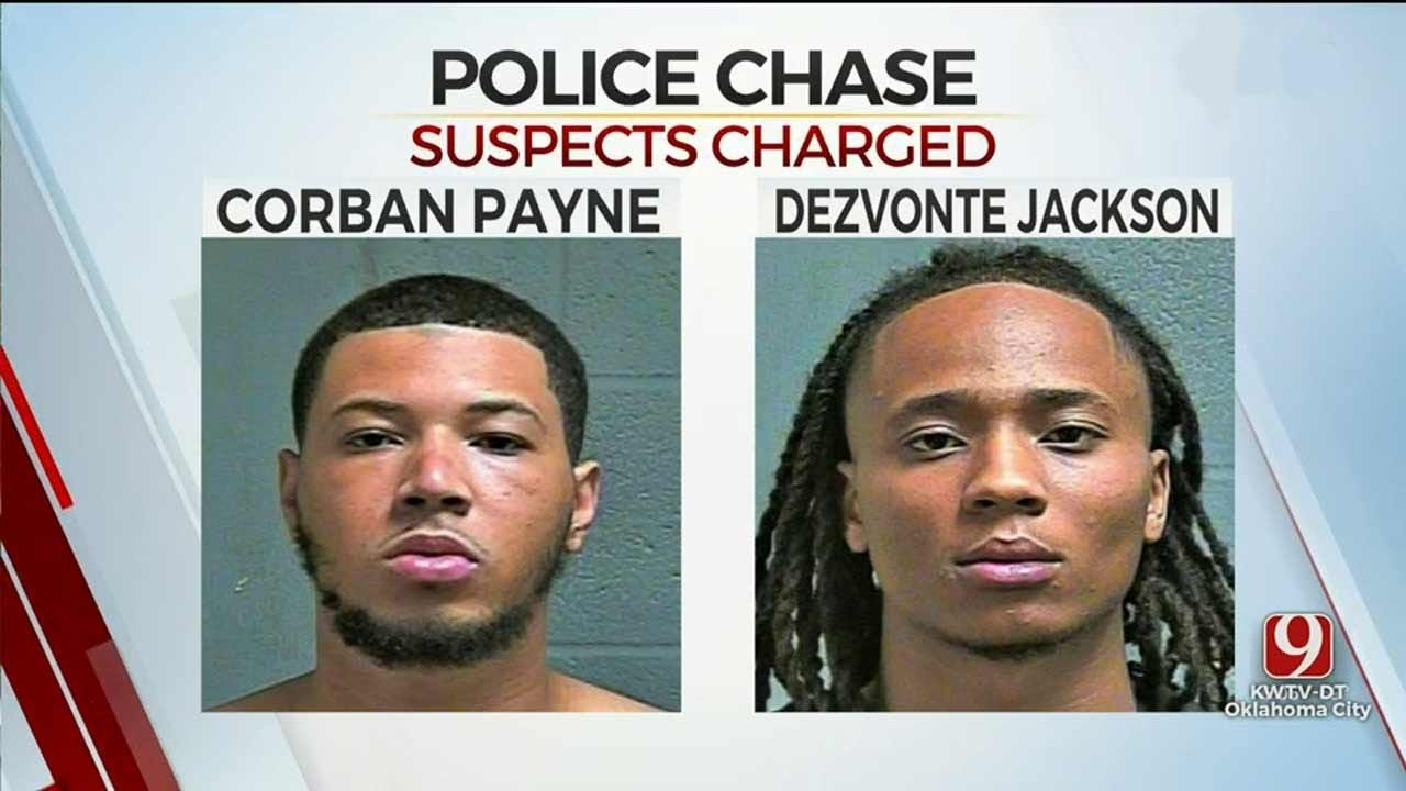 Suspects In OKC Police Chase Facing 5 Charges