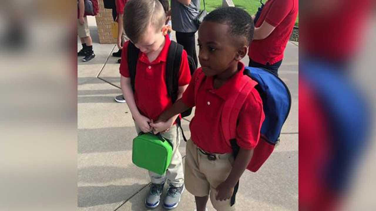 8-Year-Old Boy Consoles Crying Classmate With Autism On First Day Of School
