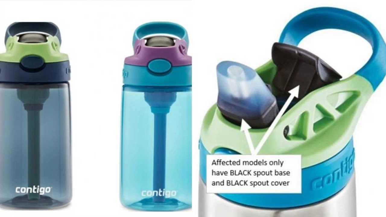 5.7 Million Contigo Kids' Water Bottles Recalled For Choking Hazard