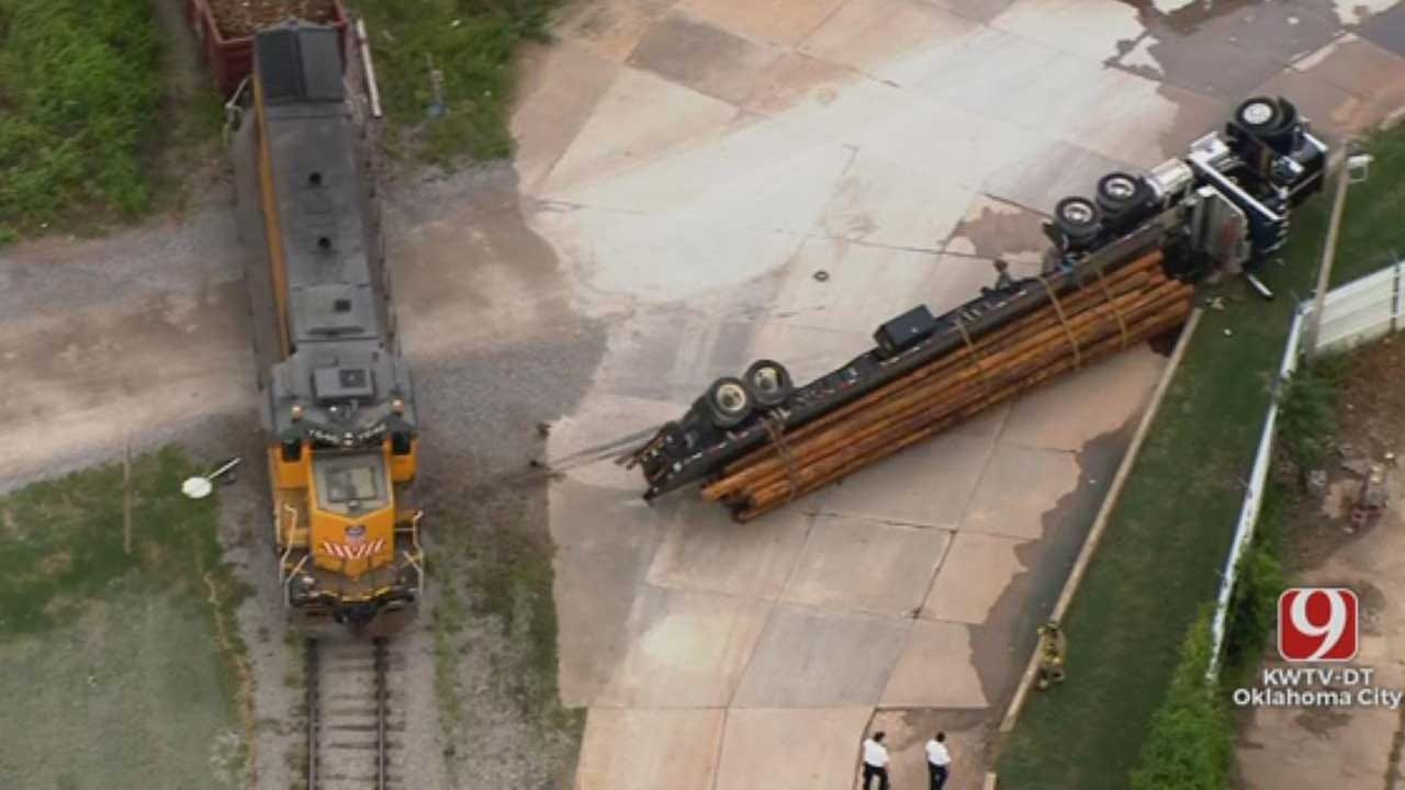 No Injuries Reported After Train And Semi Collide Near Bricktown