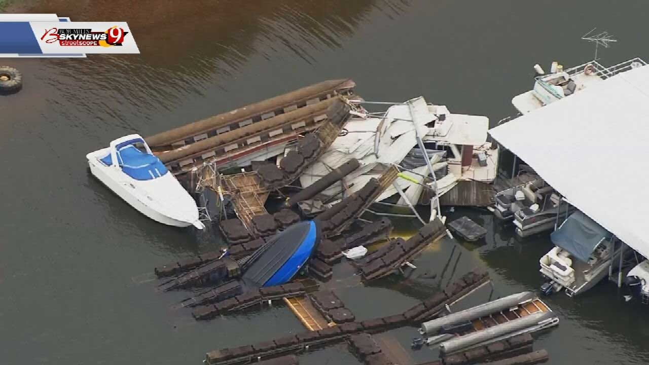 Several Boats Damaged, Total Loss At Lake Thunderbird After Severe Storms
