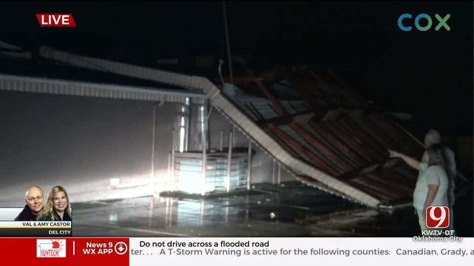 WATCH: Storms Damage House Of Prayer Church Roof In Del City