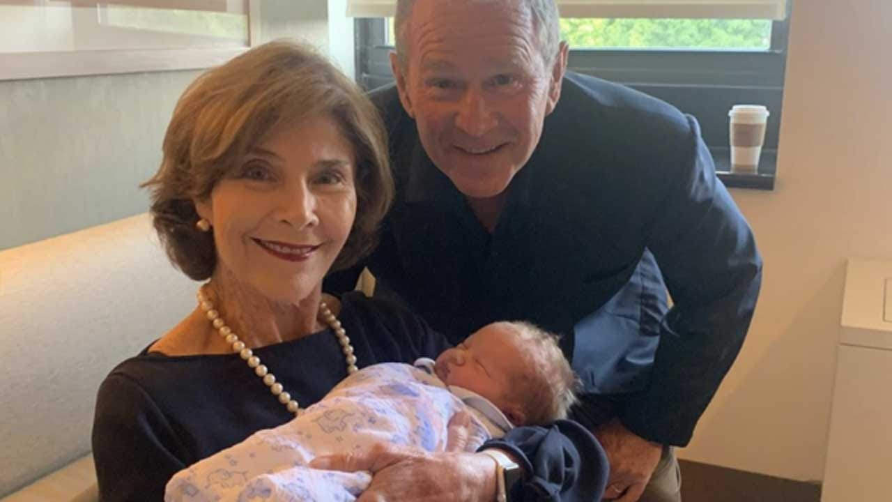 Former President George W. Bush Shares Photo Of First Grandson
