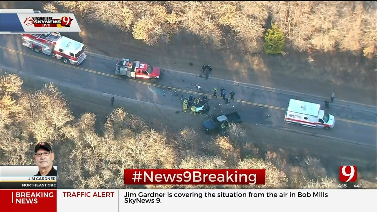 1 Critically Injured After Rollover Crash In SE OKC