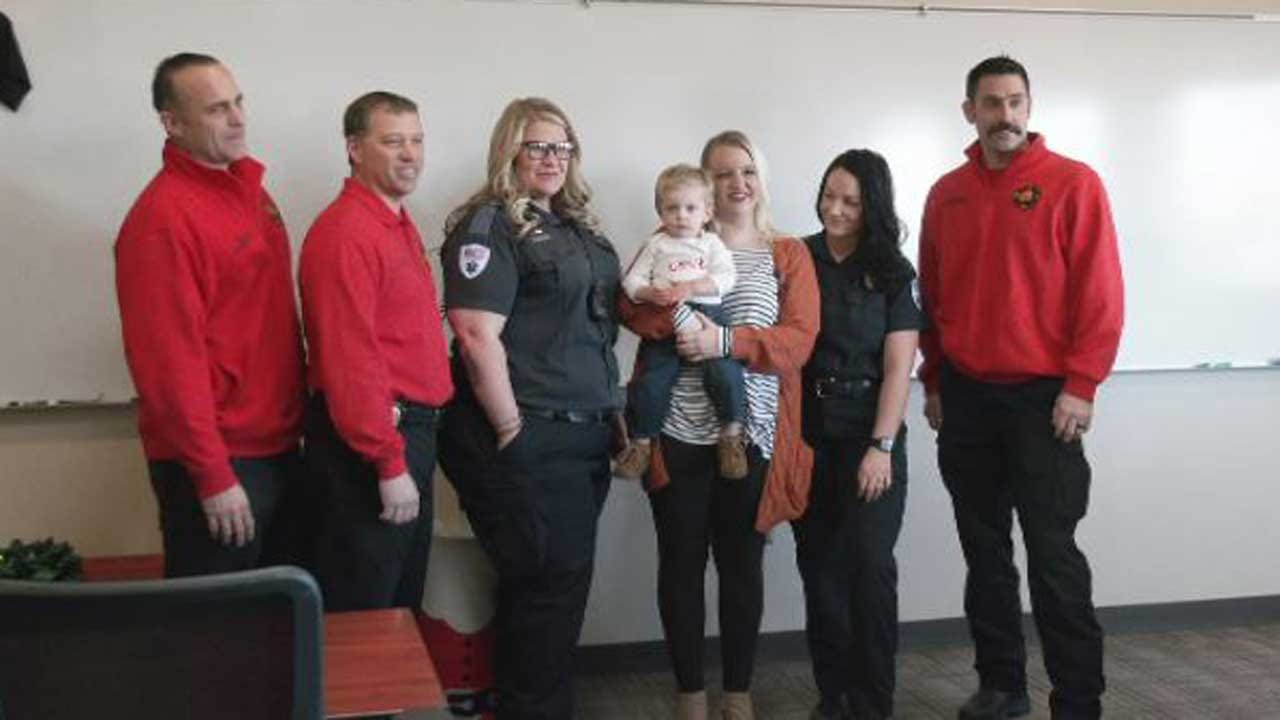 Family Meets With First Responders Who Saved 28-Day-Old Baby