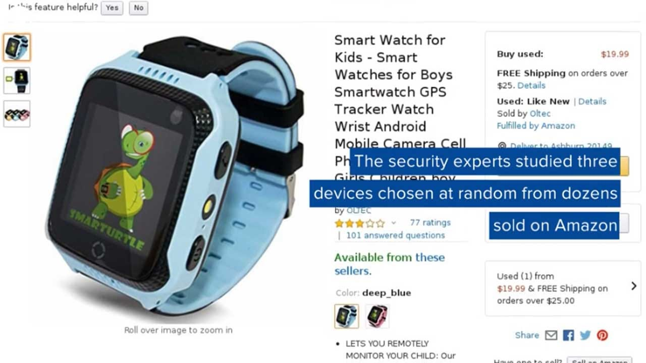Kids' Smartwatches Sold On Amazon Can Be Hacked