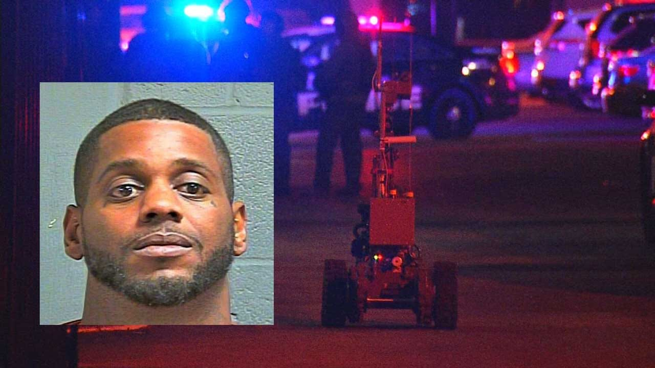 OCPD Tactical Team Use Robot To End Standoff With Assault Suspect In NW OKC