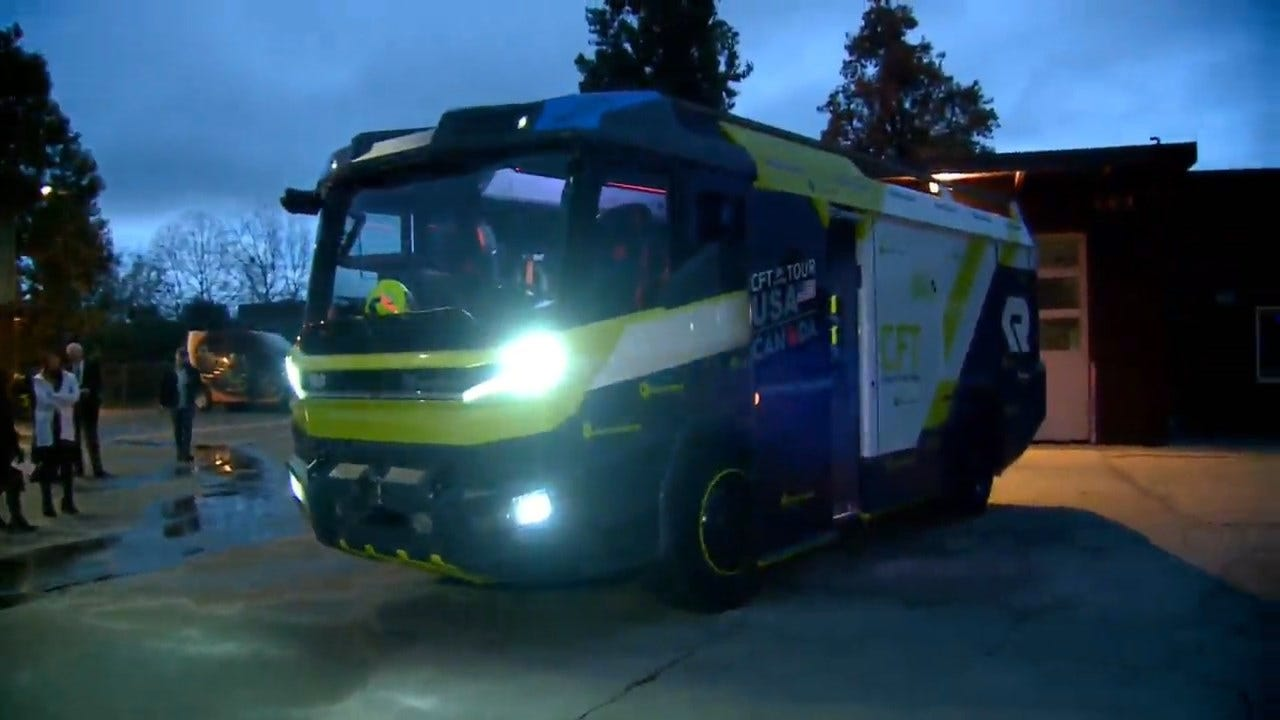 World's First All-Electric Fire Engine Unveiled By California Fire District
