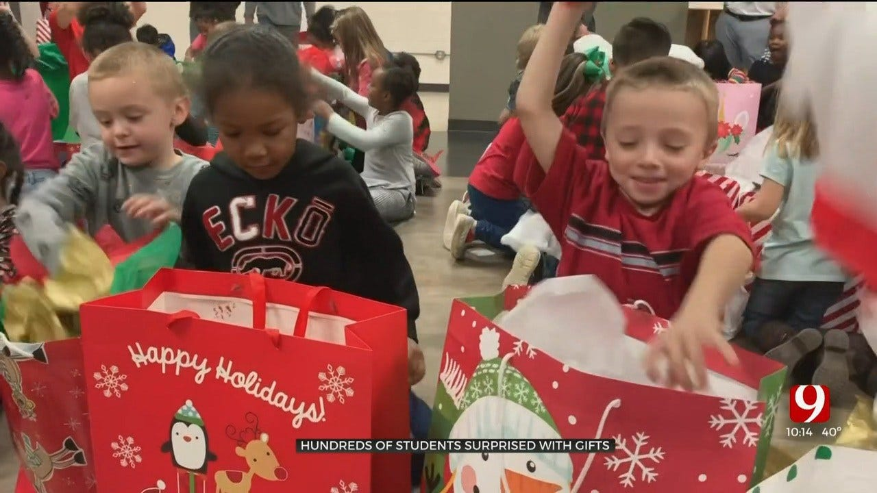 Hundreds Of Moore Elementary Students Surprised With Gifts