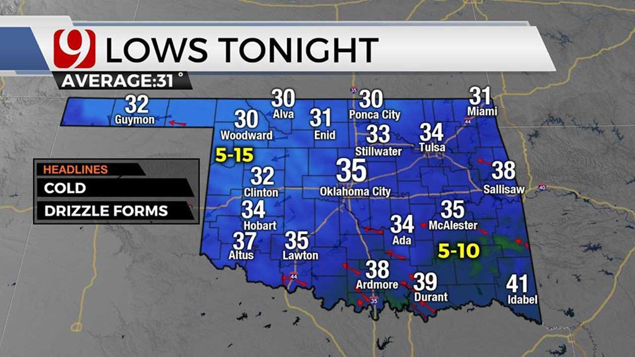 Freezing Drizzle Possible Sunday Morning; Slick Spots Could Develop