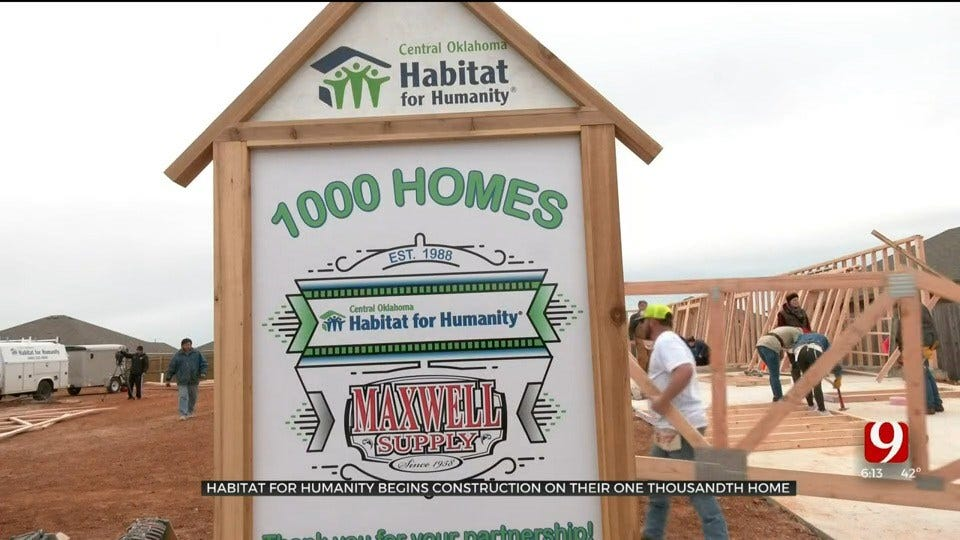 Habitat For Humanity Begins Construction On Its 1,000th Home In Central Oklahoma