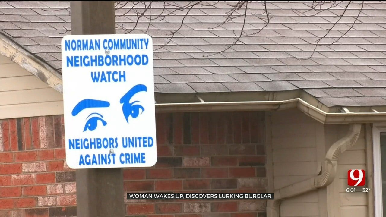 Woman Speaks Out After Waking Up To Find Lurking Burglar In Norman Home