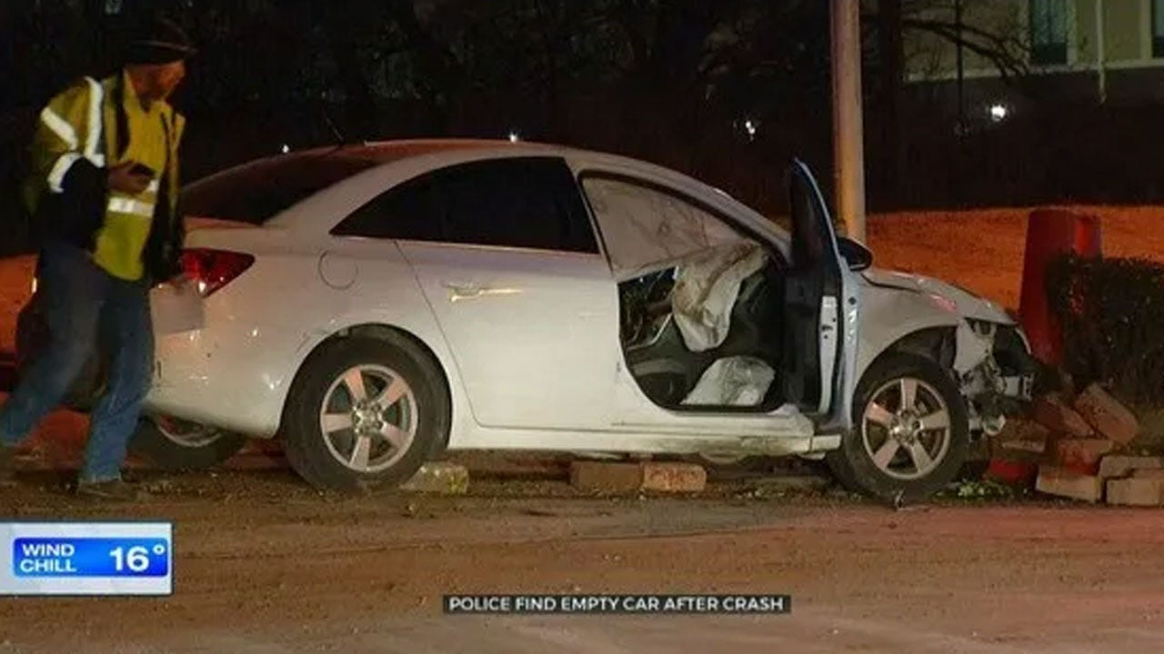 Police Find Empty Vehicle After Overnight Crash In NE OKC