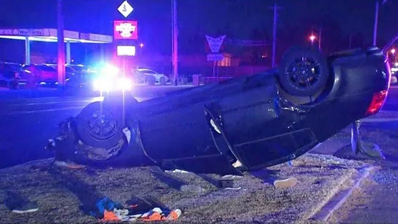 2 Taken To Hospital Following Overnight Crash