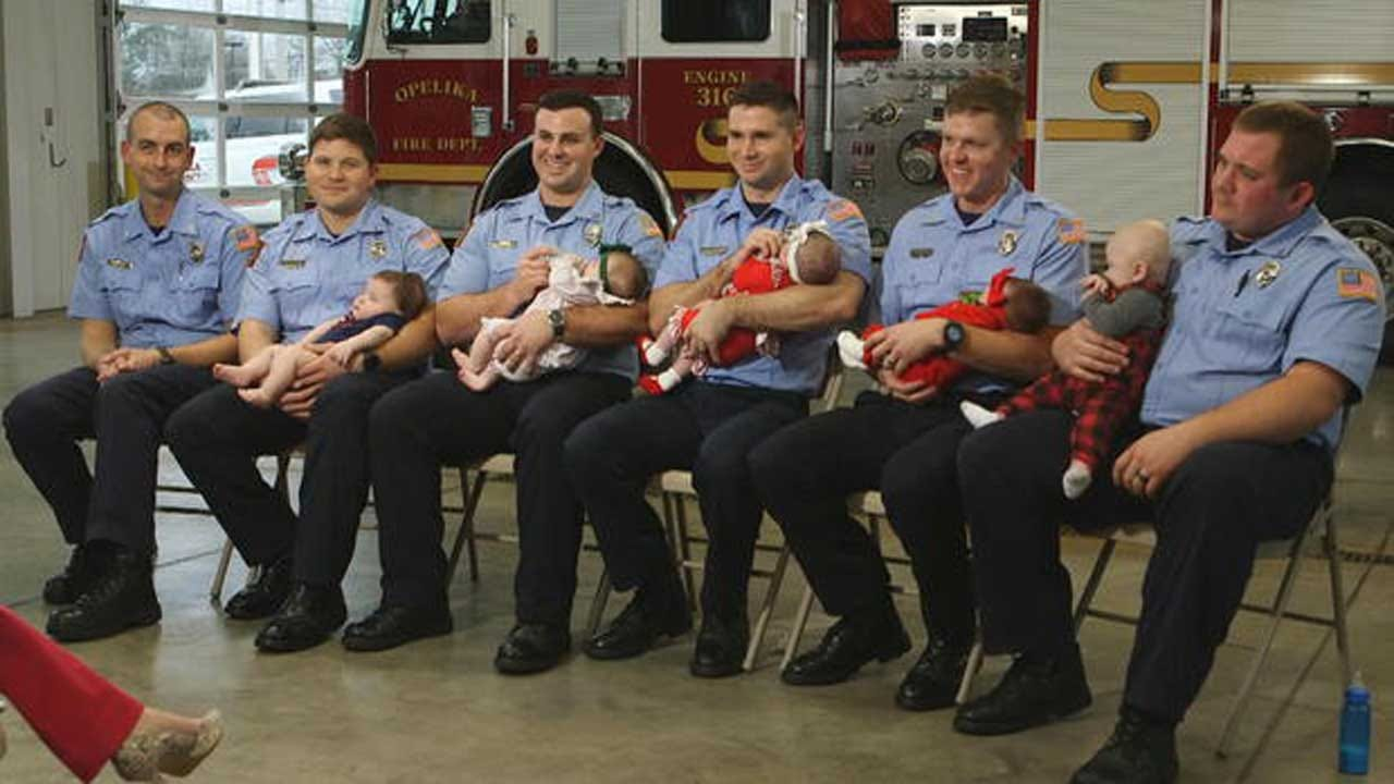 7 Firefighters At The Same Fire House Welcome Newborns Within Months