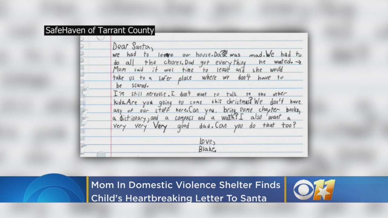 Boy, 7, In Domestic Violence Shelter Asks Santa For A 'Very Good Dad'