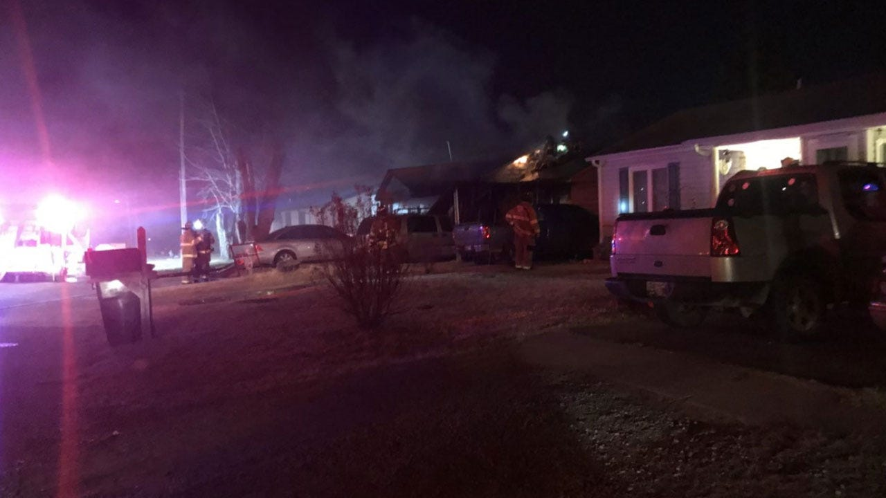 Firefighters Battle Two House Fires In MWC