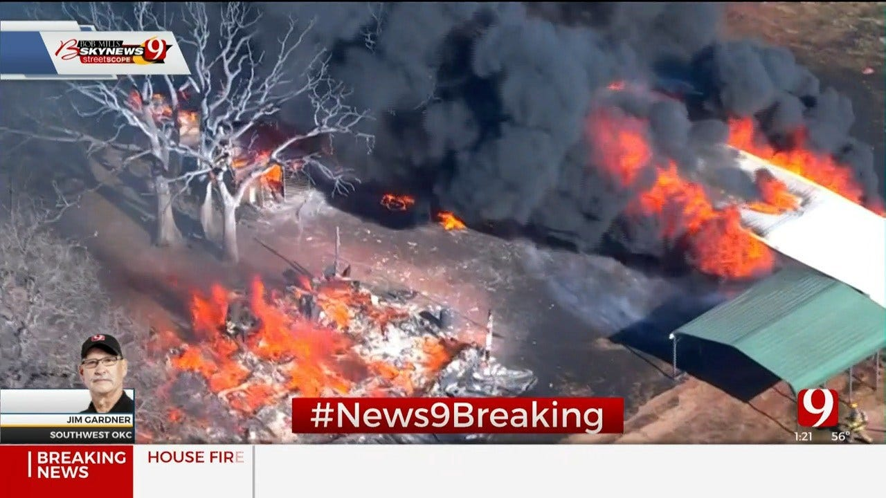 Multiple Structures On Fire Near Blanchard