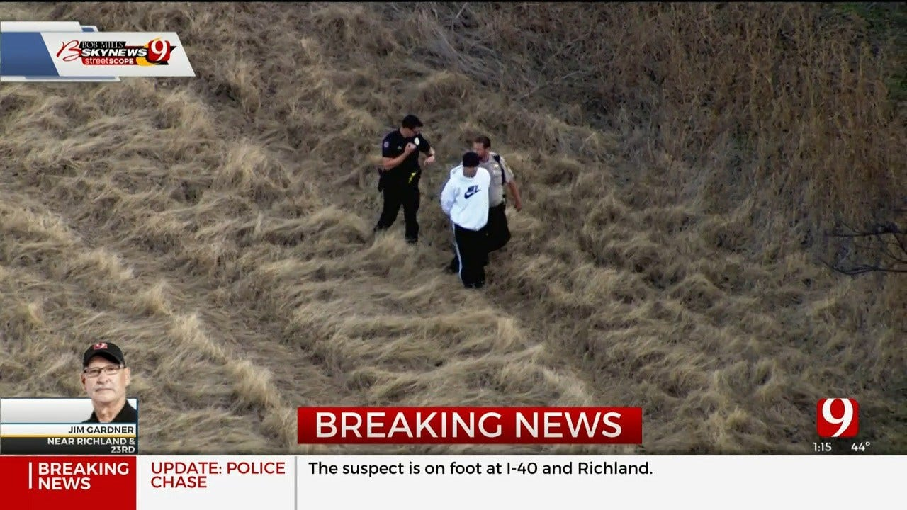 1 Detained After Police Chase Near El Reno
