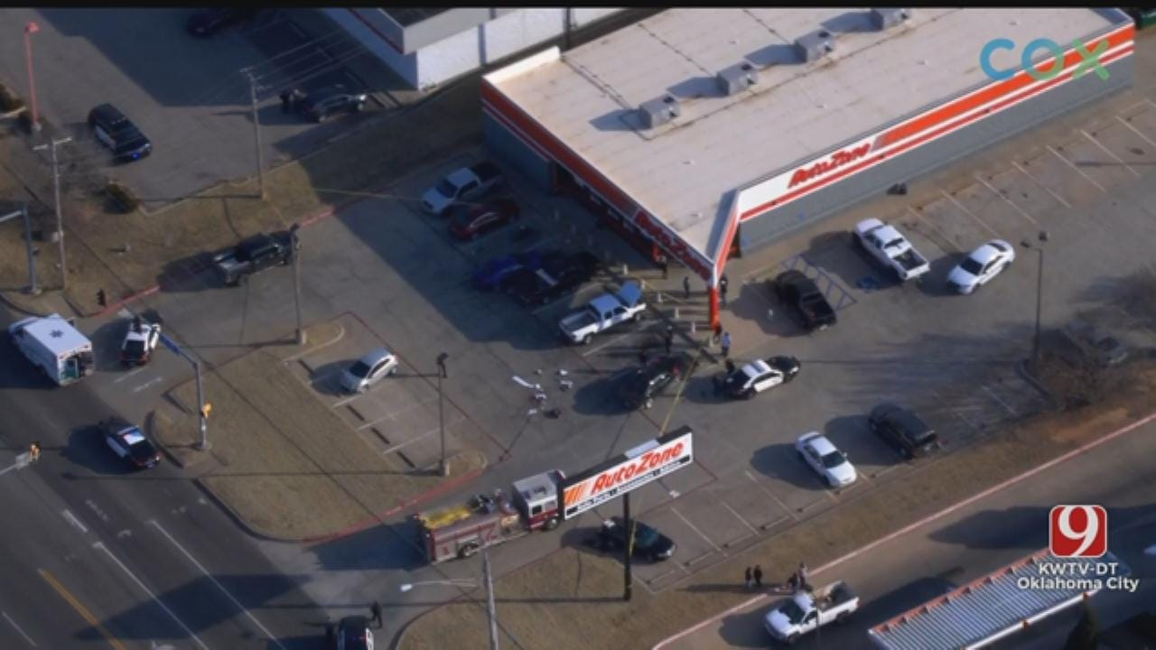 Police Identify Victim In MWC AutoZone Deadly Shooting, Release Photo Of Suspects Truck