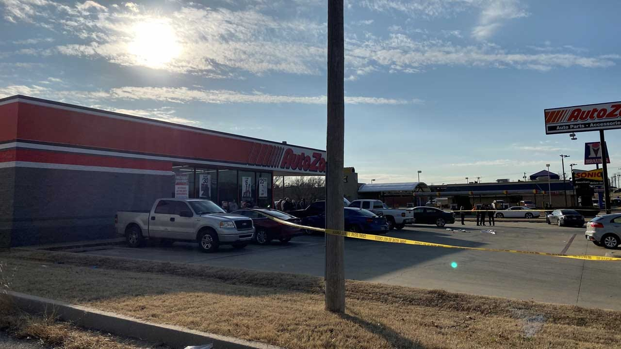 Witnesses Recount Deadly MWC AutoZone Shooting; Police Searching For Suspect