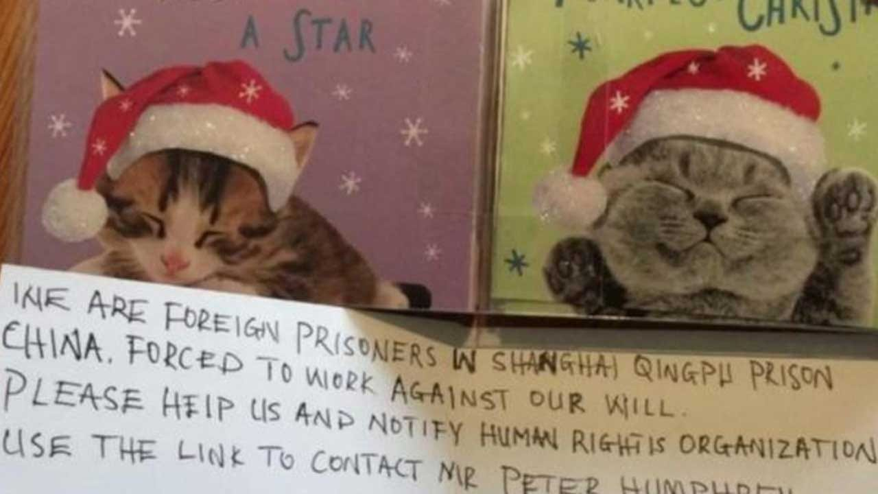 Girl Finds Cry For Help From Chinese Prison Laborers Inside Christmas Card