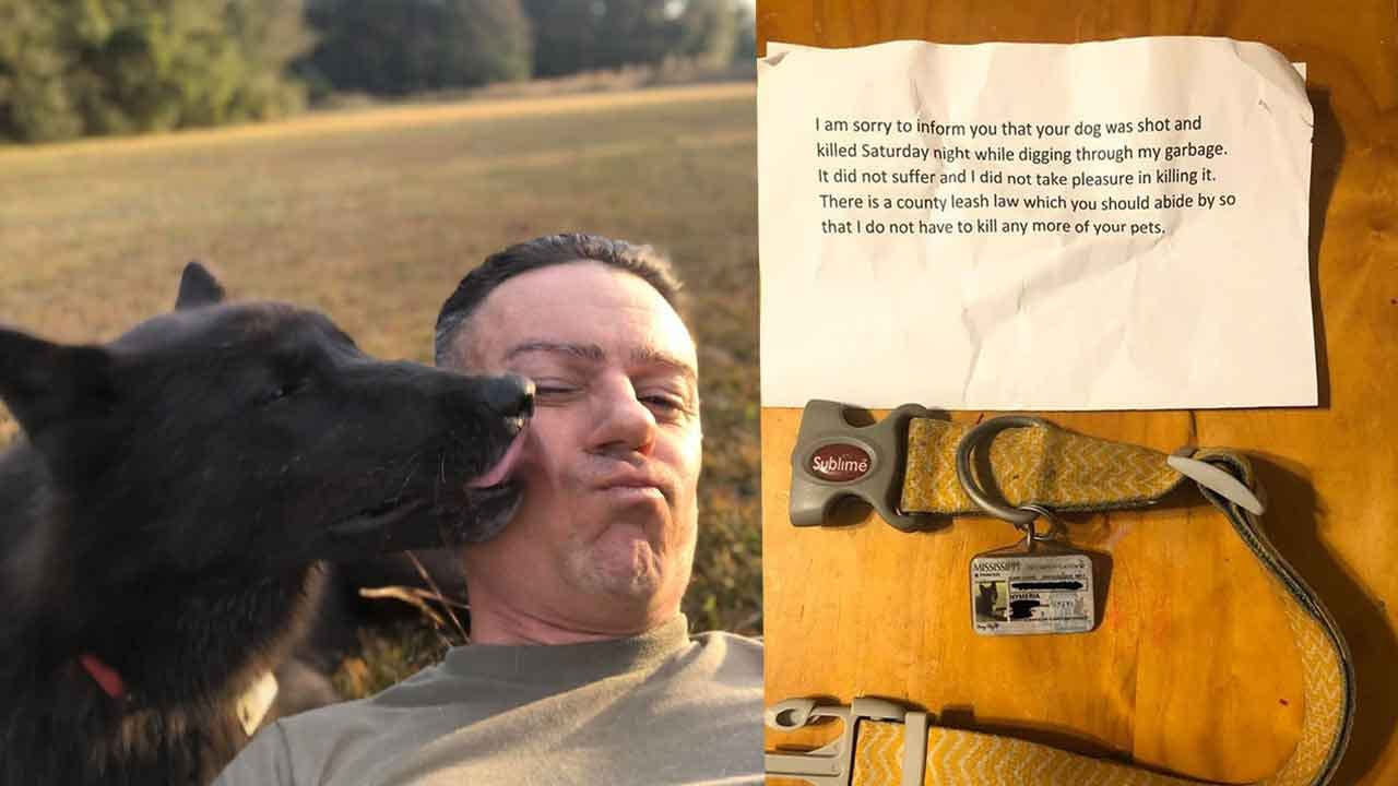 Mississippi Man Finds Note Saying His Missing Dog Was Killed