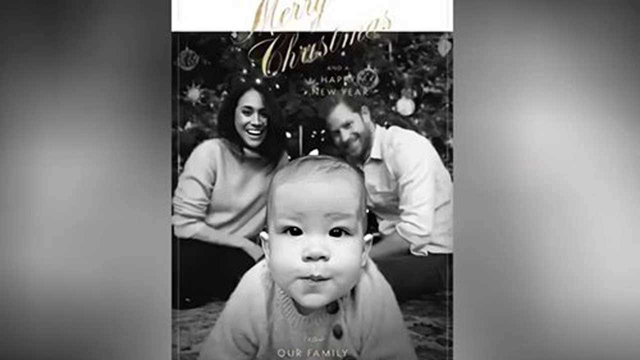 Royal Family Shares Holiday Card From Prince Harry, Meghan Markle With Baby