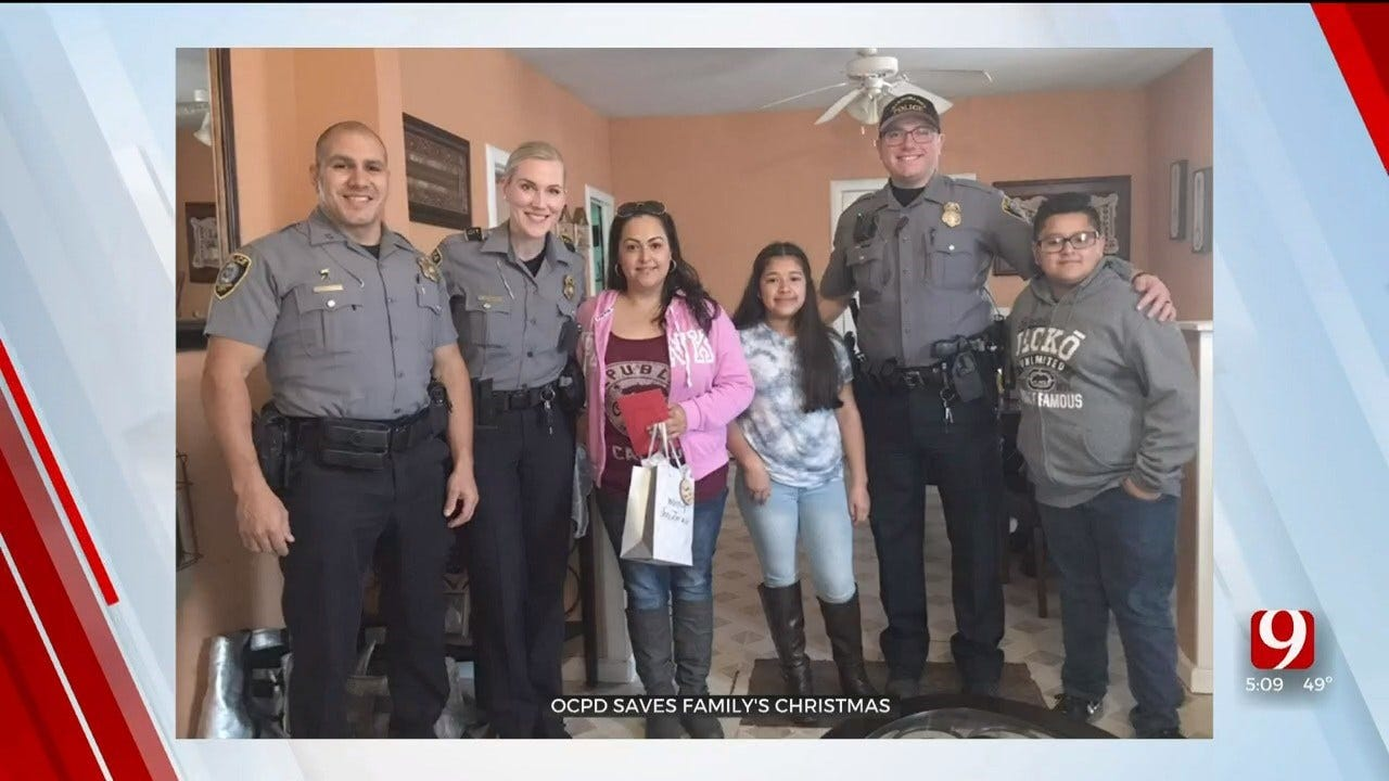OKC Mother Thanks Officers For Saving Her Family's Christmas