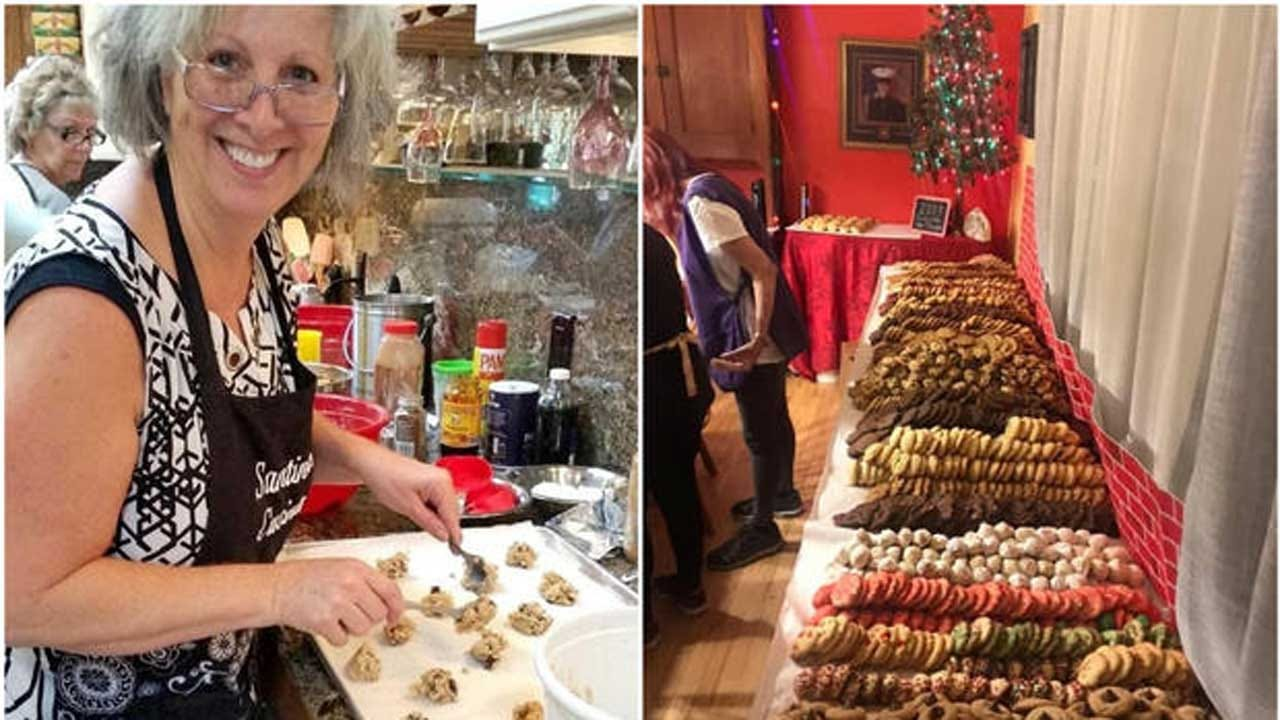 Volunteers Bake Nearly 4,000 Cookies For Troops Overseas To Continue Late Friend's Tradition