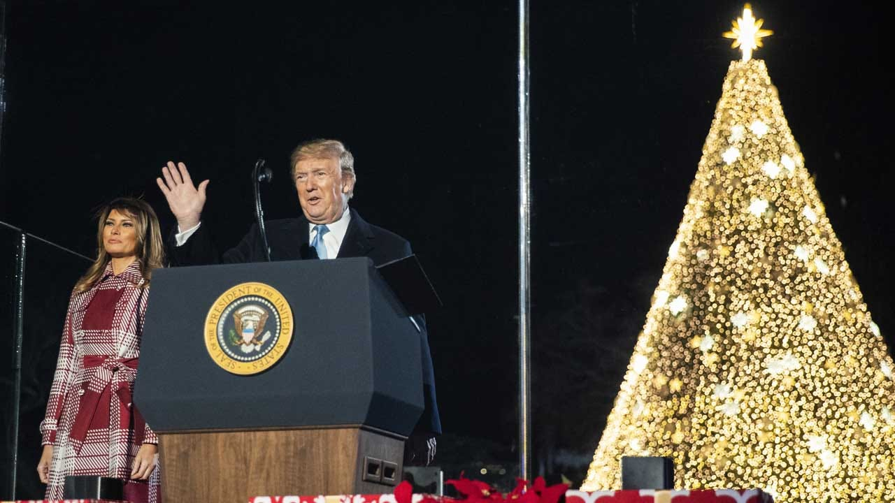 President Trump And First Lady Light The National Christmas Tree In Washington, D.C.