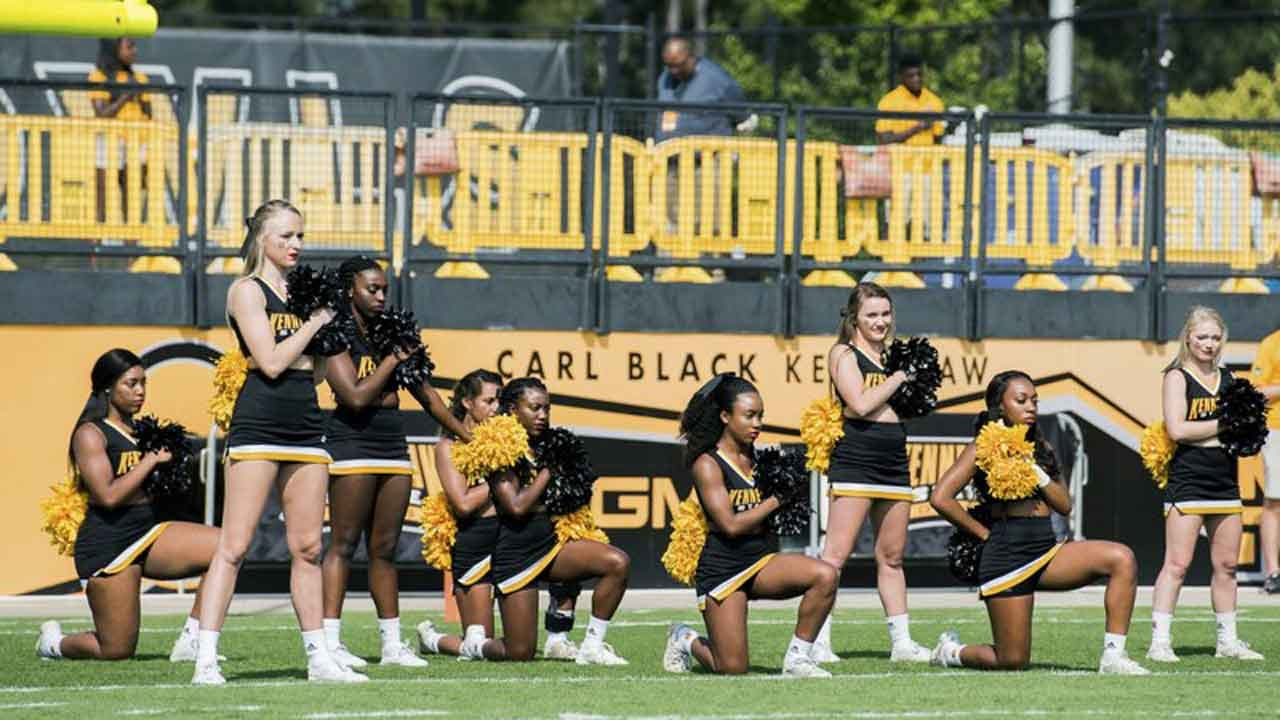 Georgia College To Pay Cheerleader Who Kneeled During National Anthem $145,000