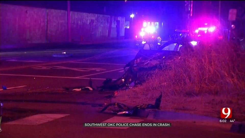 Suspect Arrested Following Early Morning High Speed Chase In SW OKC
