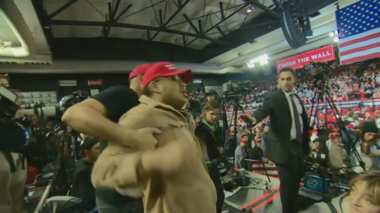 BBC Cameraman Shoved By Trump Supporter At Texas Rally
