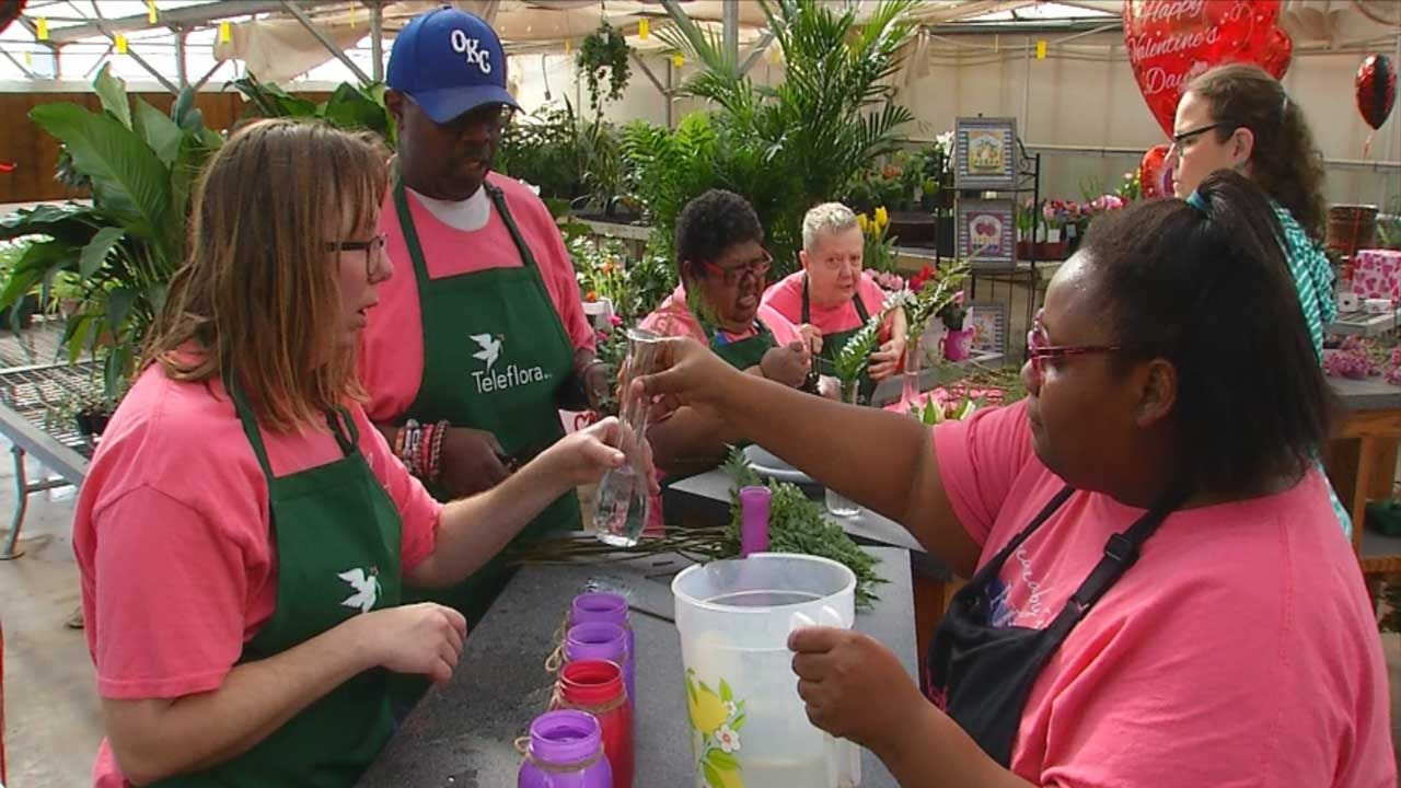 Adults With Special Needs Spreading Love At Okarche Flower Shop