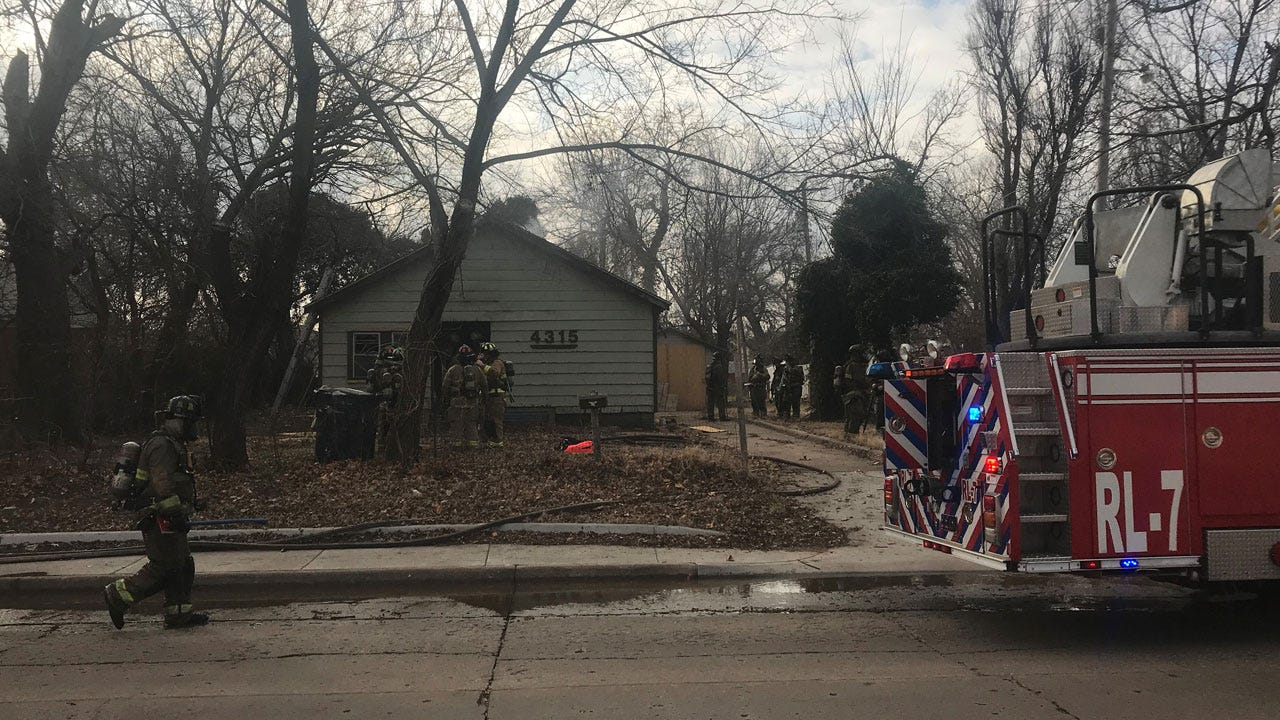 Crews At Scene Of SW OKC House Fire