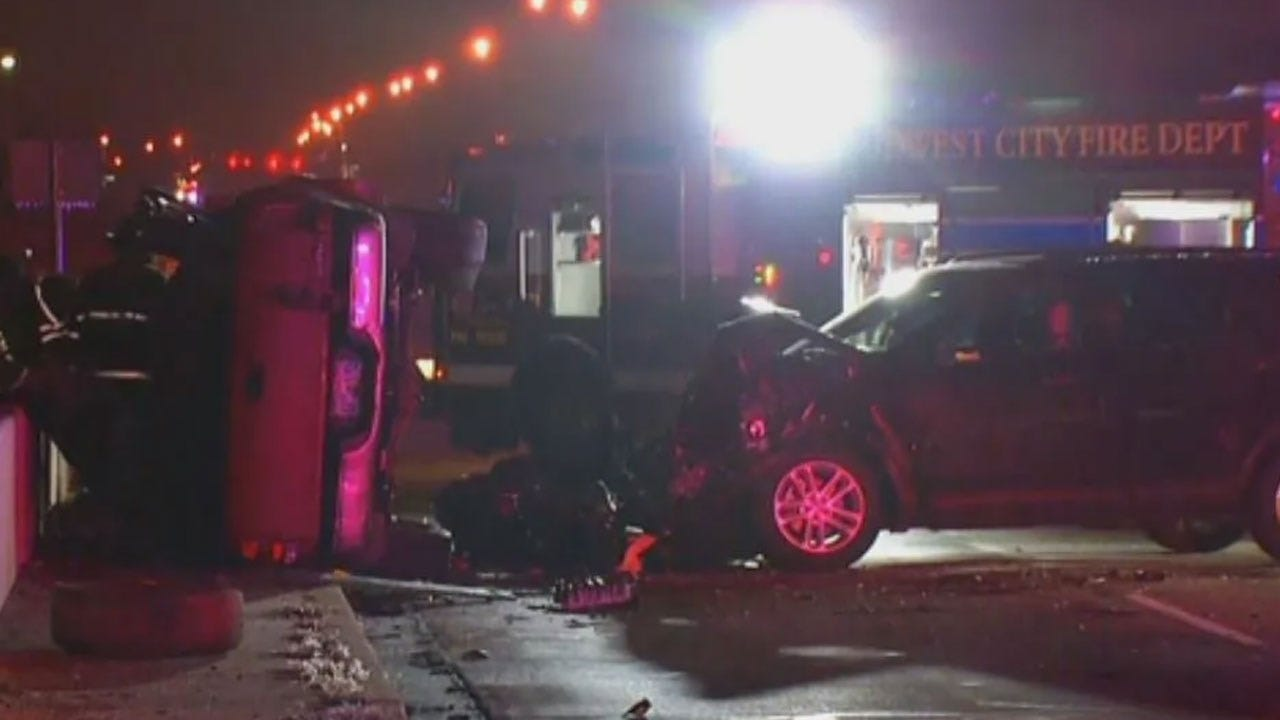 2 Injured In Midwest City Crash