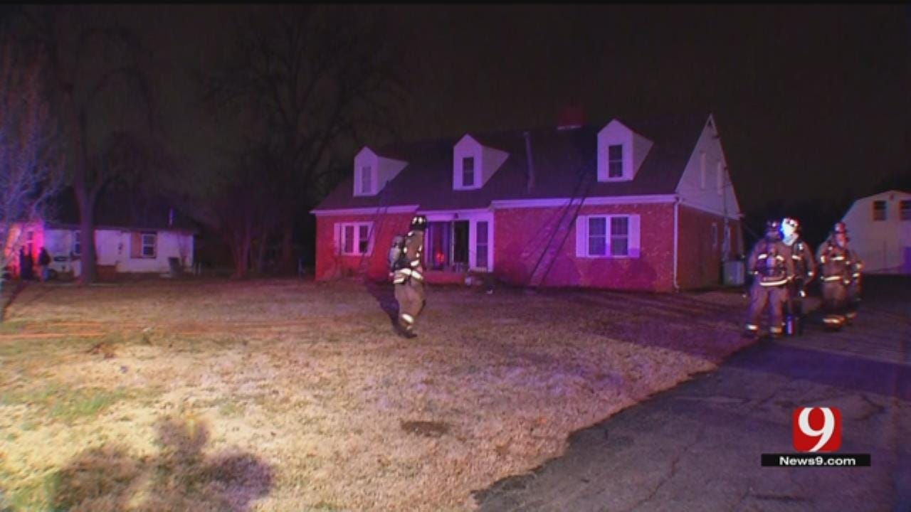 OKC Woman Lucky To Escape Early Morning Fire