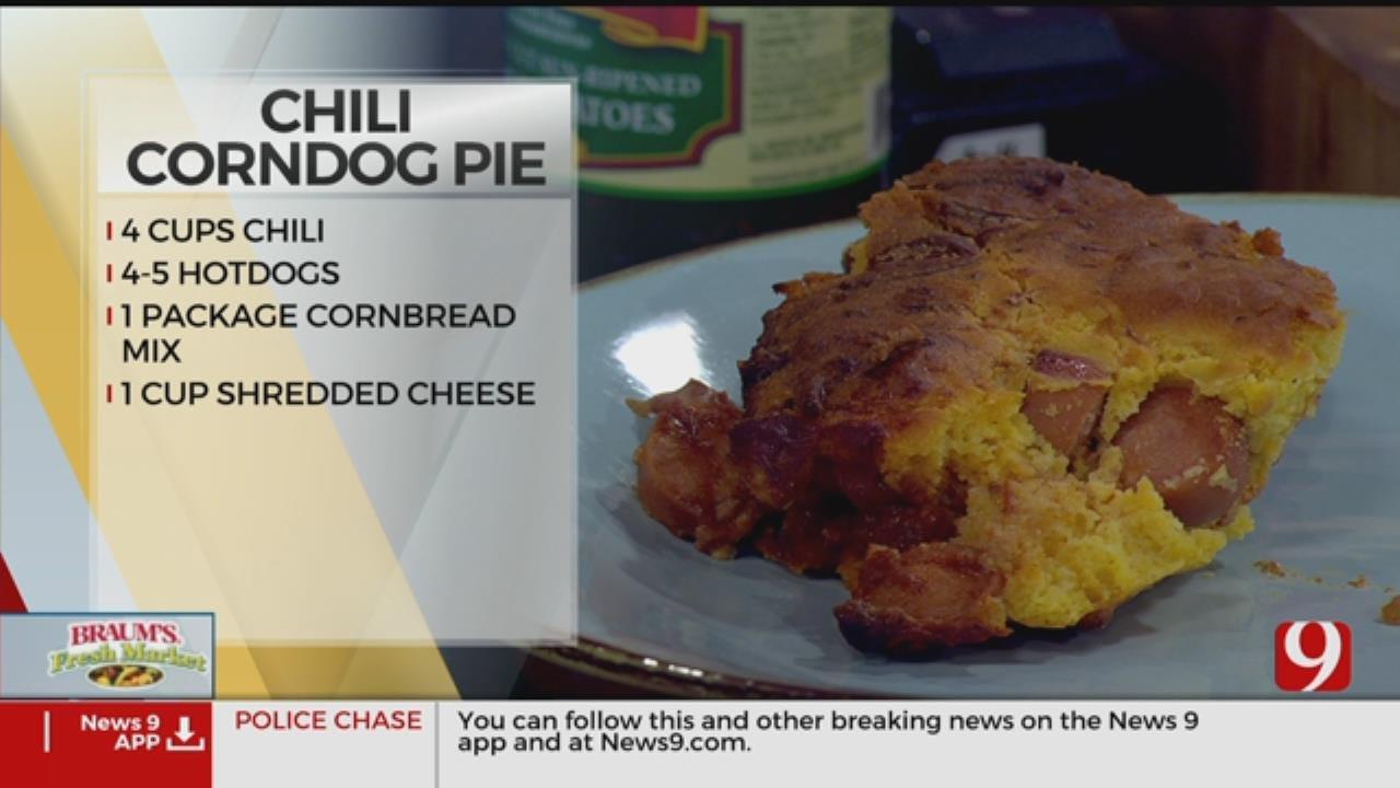 Chili Corndog Pie