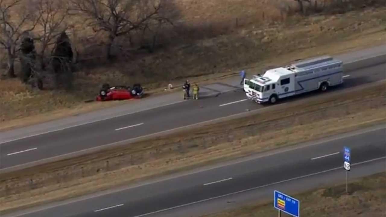 Emergency Crews Respond To Multiple Crashes Along I-44 In OKC