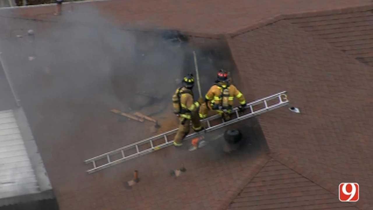 Firefighters Battle House Fire In MWC
