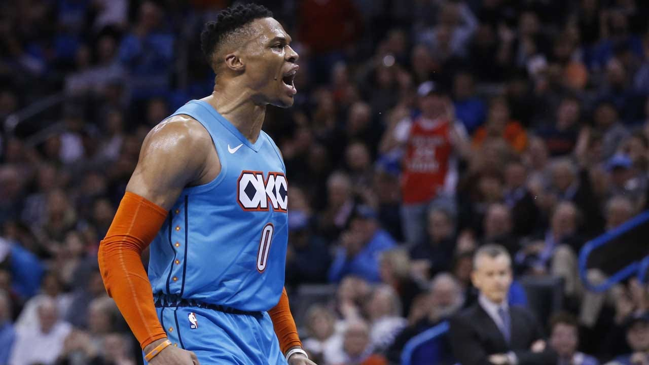 Westbrook's 7th Straight Triple-Double Leads OKC Past Magic