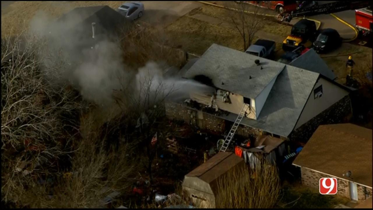 Del City, OKC Firefighters Put Out Large House Fire