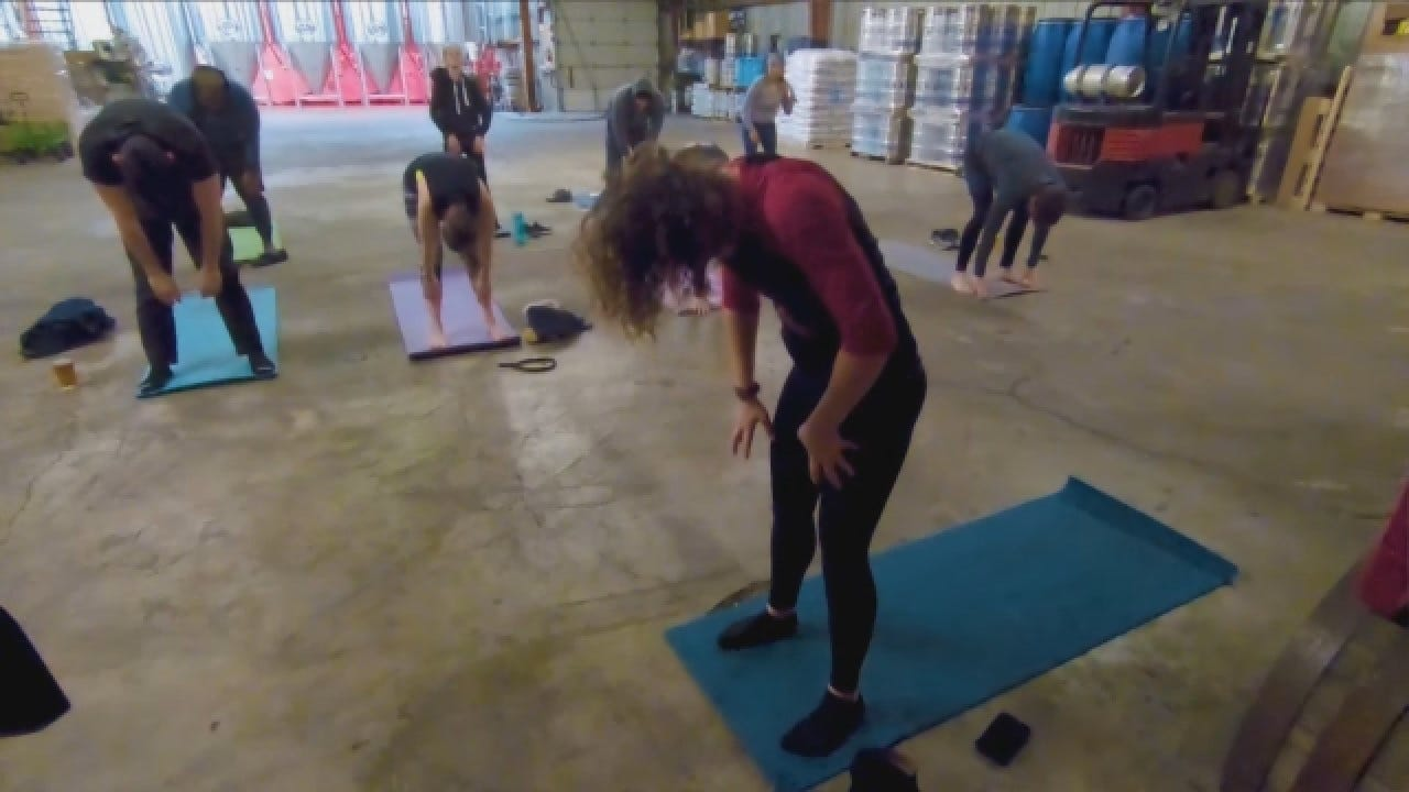 Release Stress, Drink Beer With 'Rage Yoga'