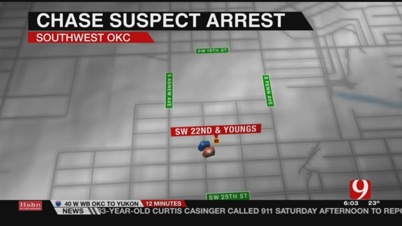 Short OKC Police Chase Ends In Arrest