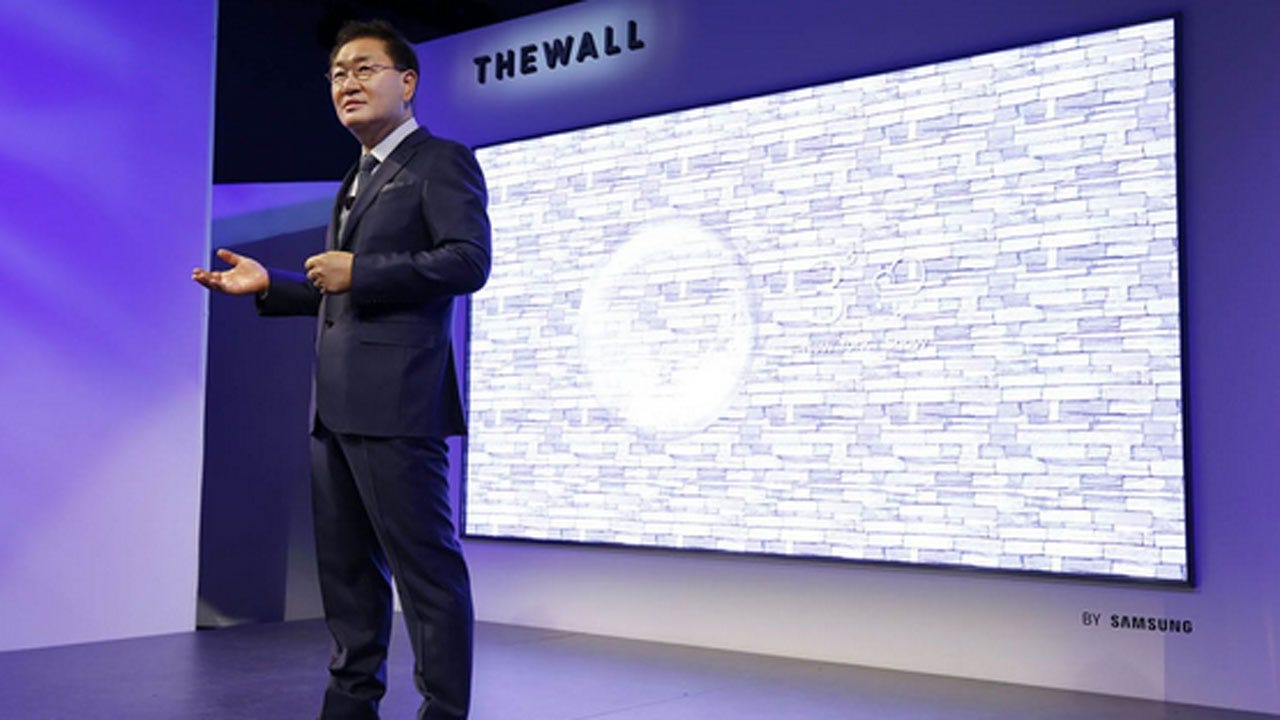 Samsung Unveils Massive TV Called 'The Wall'