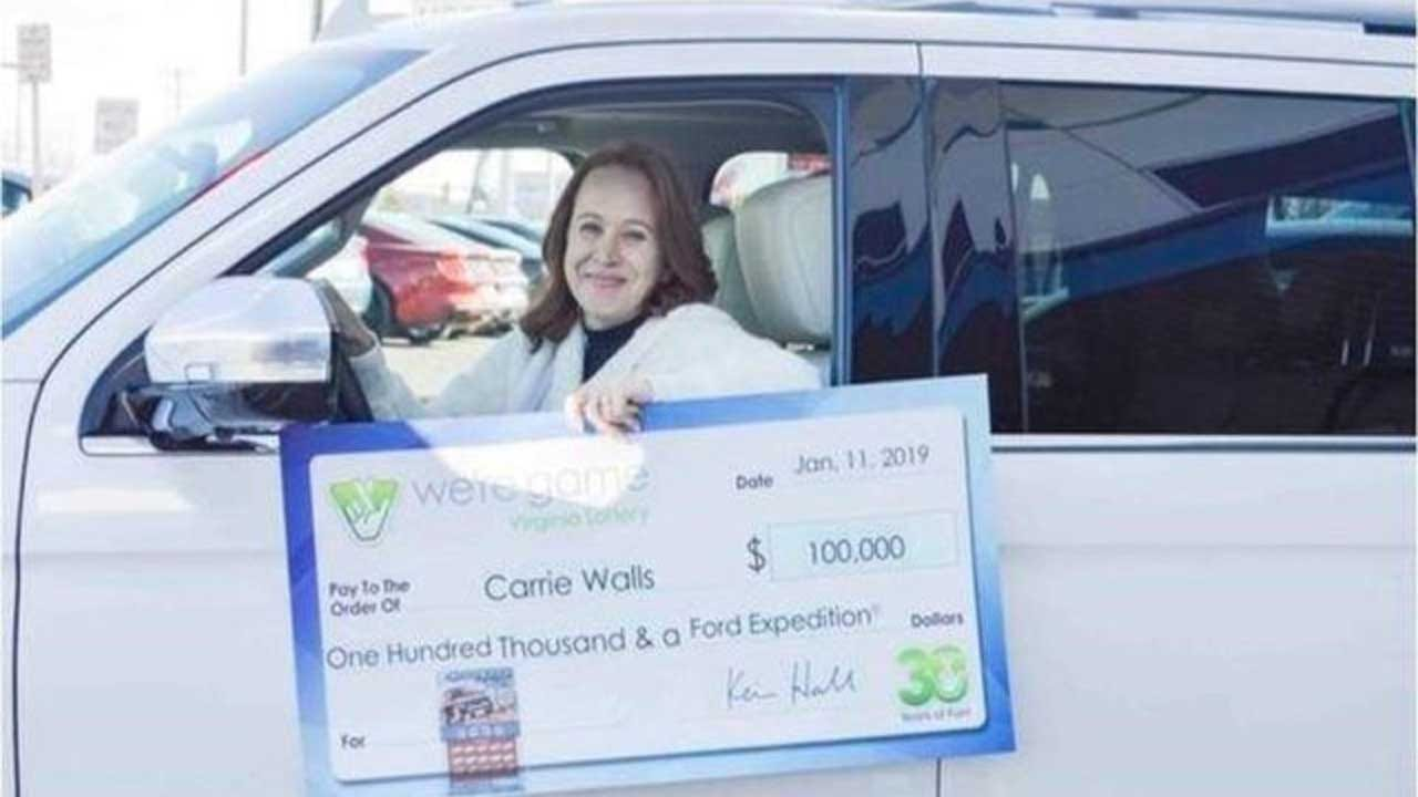 Furloughed Worker's Wife Wins $100K, SUV In Virginia Lottery
